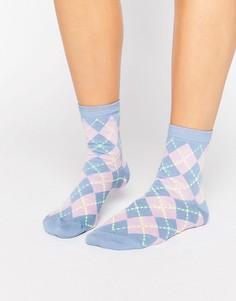 Носки в ромбик ASOS - Синий