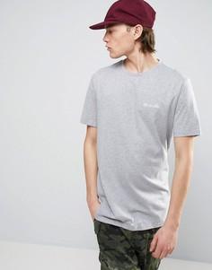 Длинная футболка с вышивкой Like No Other на груди ASOS - Серый