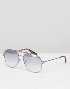 Серебристые солнцезащитные очки-авиаторы Marc Jacobs - Серебряный