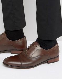 Коричневые кожаные оксфордские туфли Red Tape - Коричневый