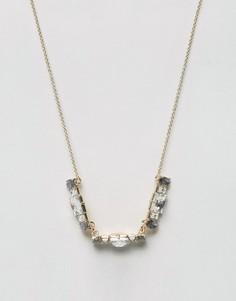 Ожерелье с серым камнем Johnny Loves Rosie - Серый