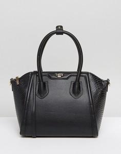 Структурированная сумка-тоут с ремешком через плечо Dune - Черный