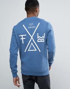 Свитер с принтом на спине Friend or Faux Transform - Синий