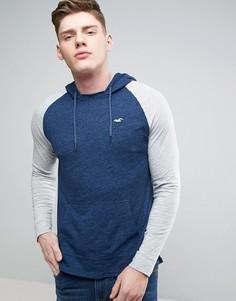 Худи темно-синего цвета из легкой ткани Hollister - Темно-синий