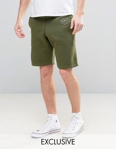 Трикотажные шорты цвета хаки Jack Wills Balmore - Зеленый