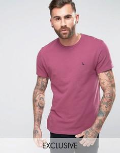 Футболка из пике ягодного цвета Jack Wills - Розовый
