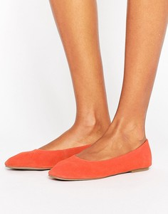 Замшевые балетки New Look - Оранжевый