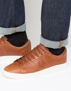 Кожаные вощеные кроссовки Fred Perry Spencer - Рыжий