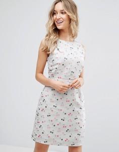 Жаккардовое платье с вишнями Sugarhill Boutique - Белый