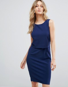 Платье-футляр 2-в-1 Sugarhill Boutique - Темно-синий