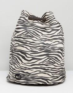 Рюкзак с принтом в зебру Mi Pac Tumbled - Черный