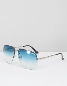 Солнцезащитные очки-авиаторы с эффектом деграде Quay Australia Muse - Зеленый