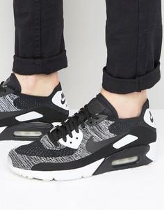 Черные кроссовки Nike Air Max 90 Ultra 2.0 Flyknit 875943-001 - Серый