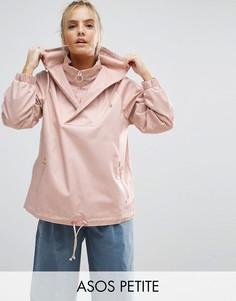 Куртка с капюшоном и кольцами на бегунках ASOS PETITE - Розовый