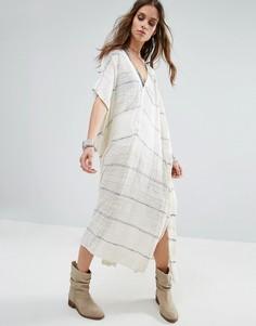 Платье-пончо макси Free People Whispering - Белый