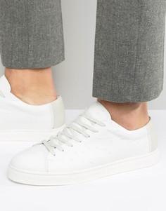 Кожаные кроссовки Selected Homme David - Белый