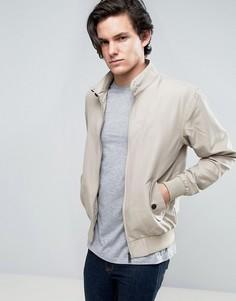 Летняя куртка Харрингтон с подкладкой Brave Soul - Светло-серый