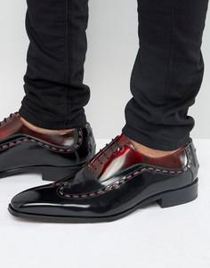 Кожаные оксфордские туфли Jeffery West Capone - Черный