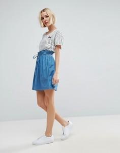 Джинсовая мини-юбка ASOS - Синий