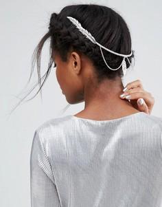 Украшение для волос с филигранным листом ASOS - Серебряный