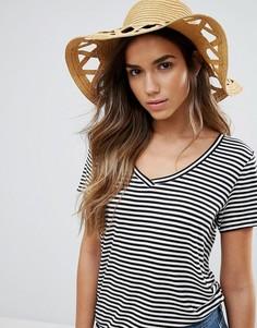 Соломенная шляпа с вырезами Vero Moda - Рыжий