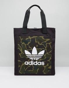 Сумка для покупок с леопардовым принтом adidas Originals - Мульти
