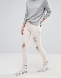 Рваные джинсы скинни New Look - Розовый