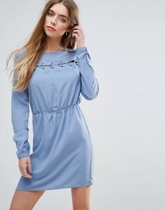 Свободное платье First & I - Синий