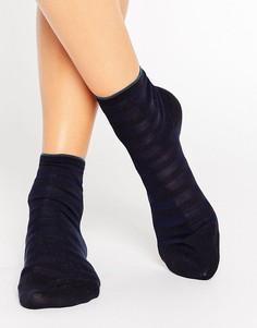 Темно-синие короткие носки из поплина Falke - Темно-синий