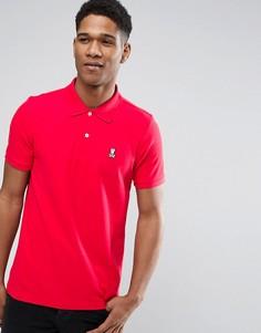 Красная футболка-поло с логотипом Psycho Bunny - Красный