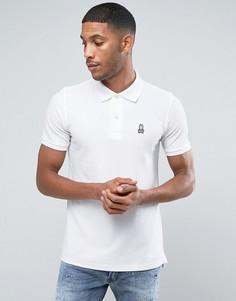 Белая футболка-поло с логотипом Psycho Bunny - Белый
