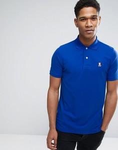 Синяя футболка-поло с логотипом Psycho Bunny - Синий
