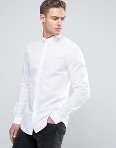 Эластичная рубашка слим из хлопкового поплина Esprit - Белый