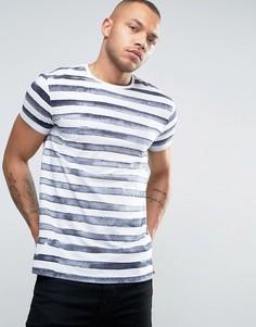 Полосатая футболка с круглым вырезом Esprit - Белый