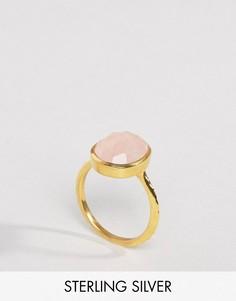 Кольцо с полудрагоценным камнем Carrie Elizabeth - Золотой