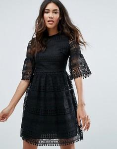 Кружевное многослойное платье Glamorous - Черный