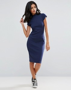 Платье-футляр с высокой горловиной Glamorous - Темно-синий