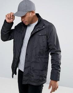 Многослойная куртка с карманами Threadbare - Черный