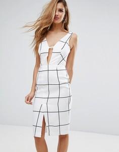 Платье с глубоким вырезом Glamorous - Белый