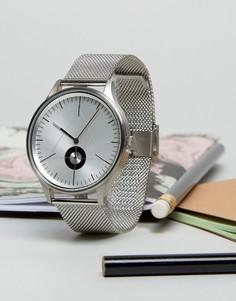 Серебристые часы с сетчатым браслетом Cronometrics - Серебряный