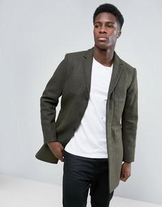Пальто с добавлением шерсти Selected - Зеленый