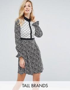 Платье-рубашка с комбинируемым принтом Influence Tall - Мульти