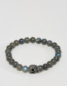 Браслет из бусин с кристаллами Swarovski Simon Carter - Серый