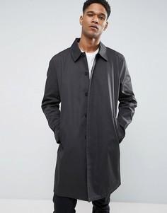 Однобортный темно-серый макинтош New Look - Зеленый