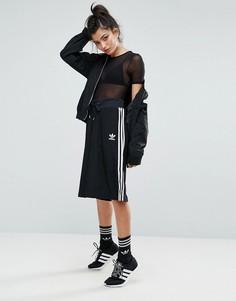 Черная юбка-шорты с тремя полосами Аdidas Originals - Черный Adidas