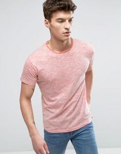 Меланжевая футболка Solid - Красный