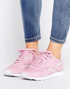 Розовые нейлоновые кроссовки Reebok Classic X Face - Розовый