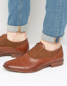 Светло-коричневые оксфордские туфли из искусственной кожи ASOS - Рыжий