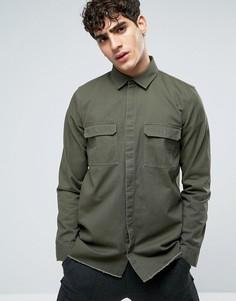 Рубашка оливкового цвета Dr Denim Max - Зеленый