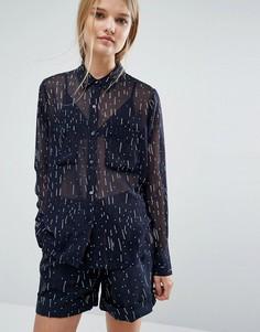 Рубашка с принтом Samsoe & Samsoe - Черный